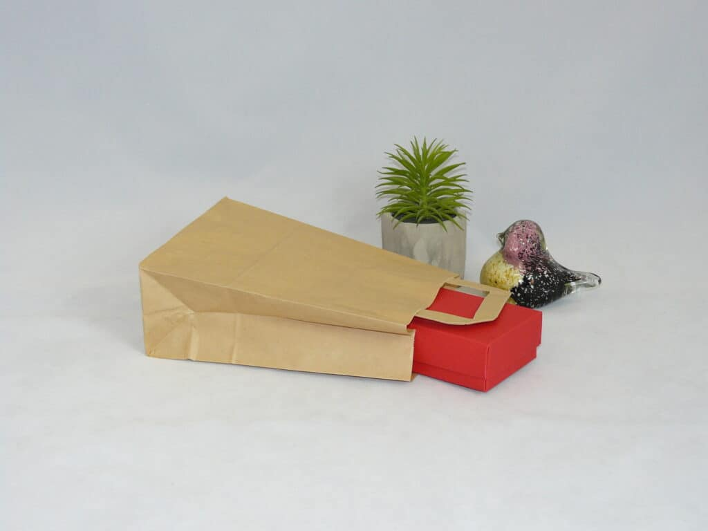 torba papierowa beżowa z uchwytem płaskim