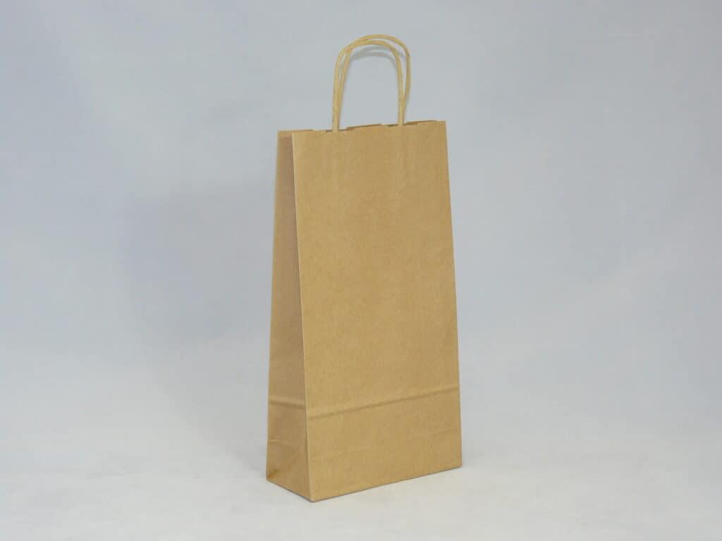 torba papierowa z uchwytem skręcanym na butelkę