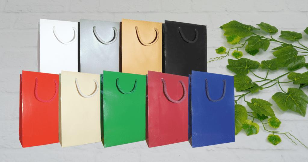 torby laminowane kolorowe, torby ekskluzywne kolorowe