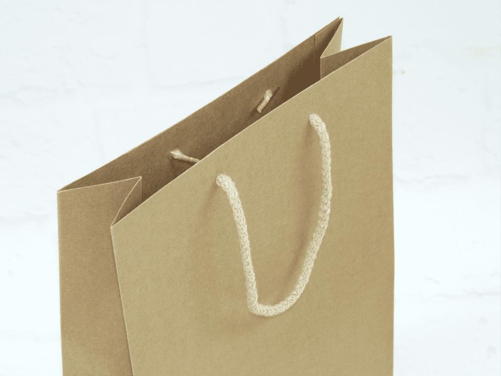uchwyt ekologiczna torba papierowa prestiż papier kraft
