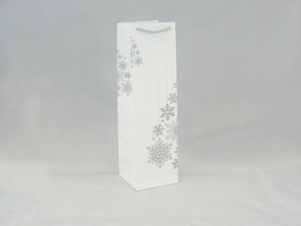 Torba na butelkę z nadrukiem świątecznym
