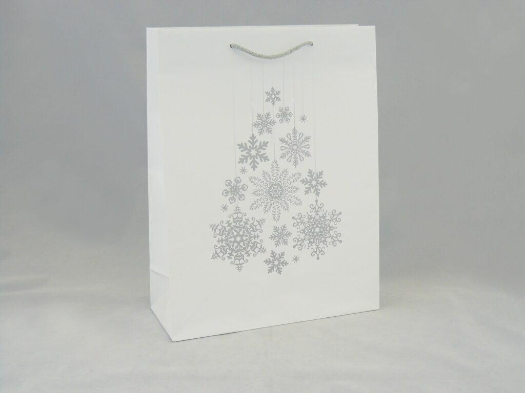 Torba na z nadrukiem świątecznym biała