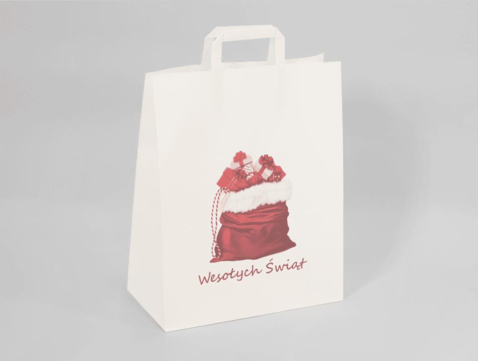 torba papierowa z nadrukiem rmikołaj